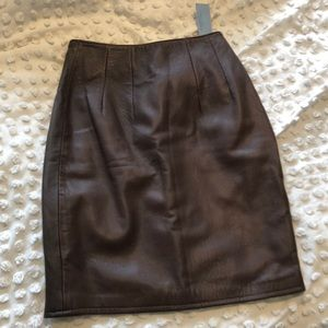 NWT vintage leather pencil skirt from Nordstrom
